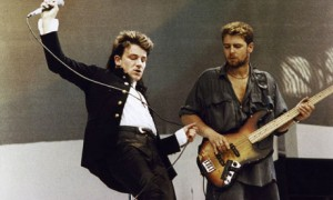 Bono & Adam Clayton At Live Aid